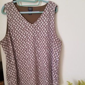 Chico's Travelers Collection Tank Print  Sz 3